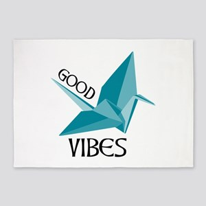 Good Vibes Crane 5'x7'Area Rug
